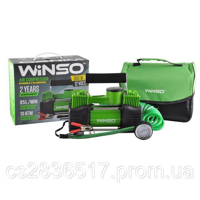 Автокомпрессор Winso 10атм, 85л/мин, 2 цилиндра