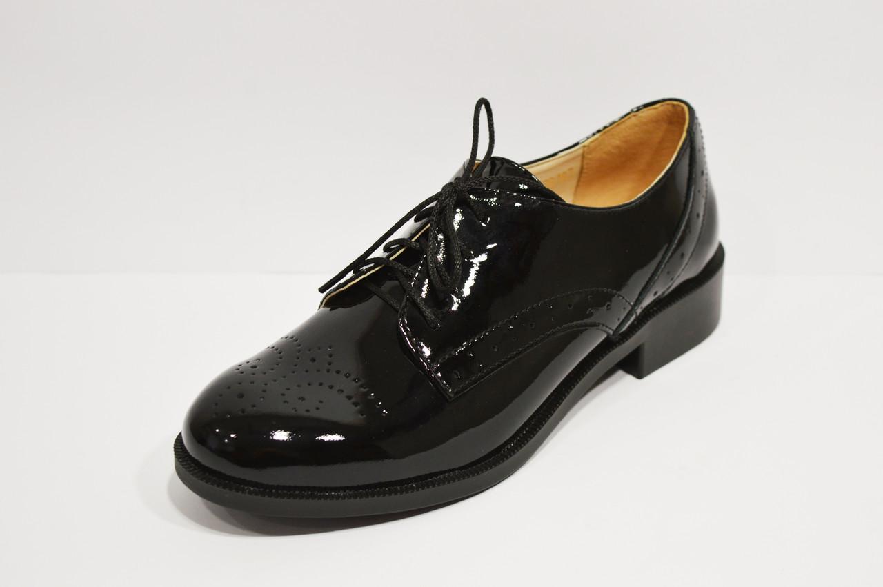Лакированные черные туфли Kento 20645