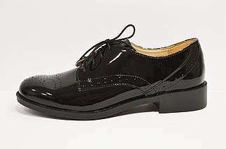 Лакированные черные туфли Kento 20645, фото 3