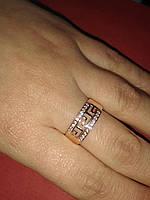 Кольцо золото 585 19 размер,рисунок версаче