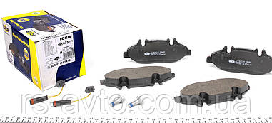 Колодки тормозные (передние) Mercedes Vito, Мерседес Вито (W639) 03- (Bosch), (с датчиками) 181675-701