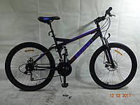 Горный подростковый велосипед 26 дюйма  Azimut Race в максимальной комплектации синий  ***