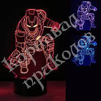 3D Светильник Железный человек 13-4, фото 1
