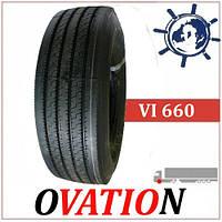 Шина Ovation VI660 рулевая 315/80R22.5 156/152L, грузовые шины на рулевую ось грузовика, усиленные шины
