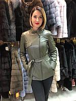 Куртка Женская Хаки с Поясом 009ДЛ