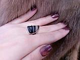 Красивое кольцо ониксовый агат в серебре. Кольцо с ониксом 17,5 размер Индия, фото 5