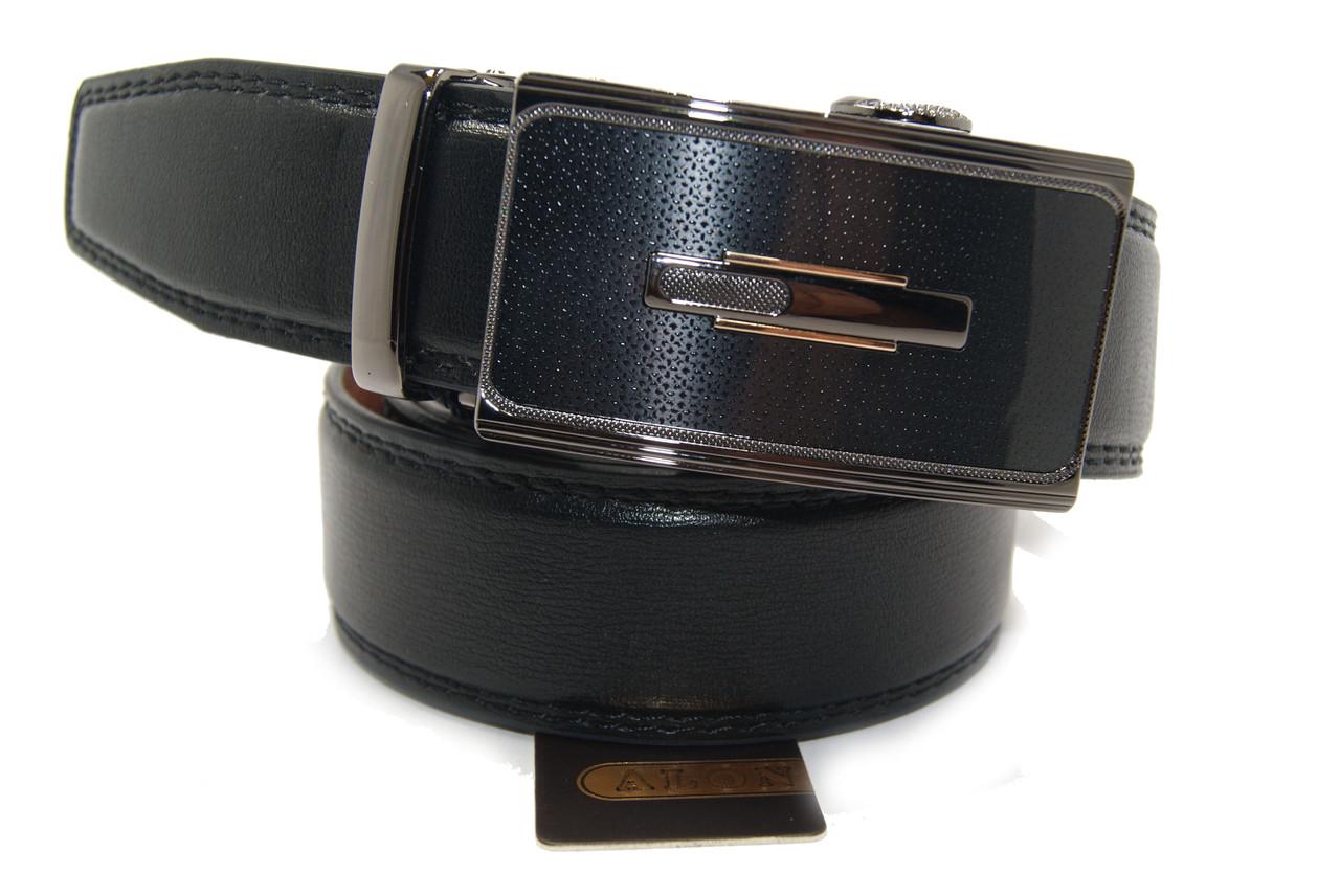 Ремень с пряжкой автомат кожа мужской эко качественный