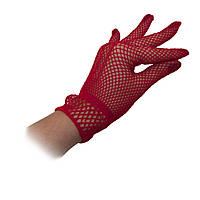Перчатки Гламур короткие (красные)