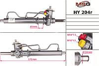 Рулевая рейка с ГУР HYUNDAI COUPE (RD) 96-02,LANTRA II (J-2) 95-00 MSG Rebuilding HY204R