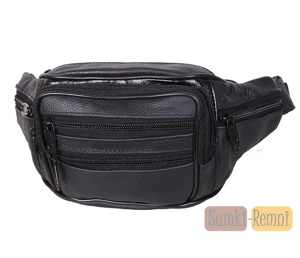 Мужская кожаная сумка на пояс Dovhani D3 + Подарок - Интернет магазин
