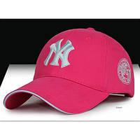 Красивая бейсболка NY- №3022, Цвет розовый