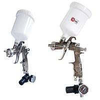 Пістолет фарбувальний, форсунка 1,3 мм, з редуктором та манометром, верхня подача фарби, бачок 600 м (шт.)