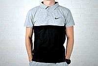 Мужское Поло Nike черно-серого цвета