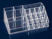 Акриловый органайзер для косметики на 16 ячеек