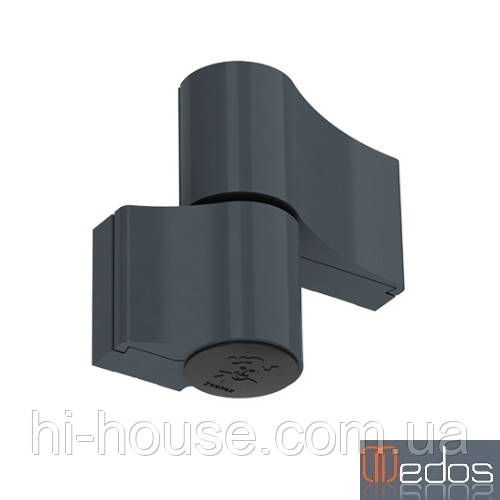 Петля дверная GU 67 мм для алюминия (антрацит) RAL 7016