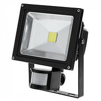 Прожектор LED 20W с датчиком движения и сумерек 6400К