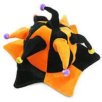 Шапка Скомороха с шариками велюр