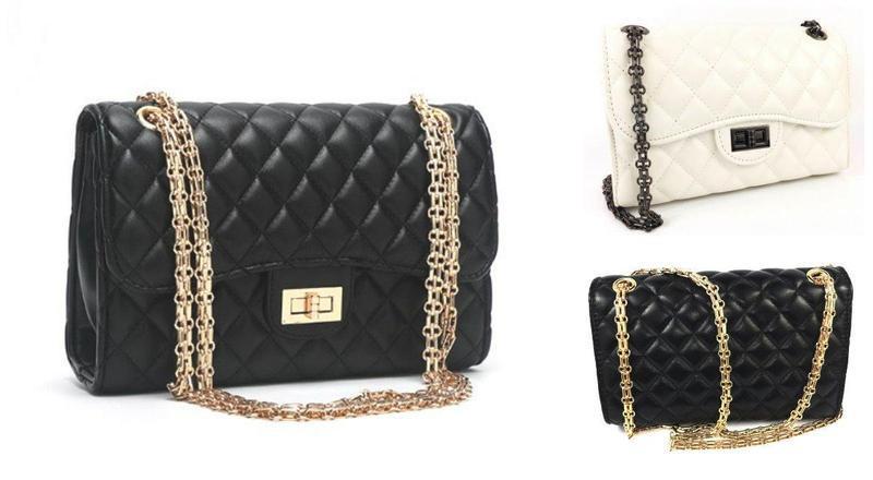Женская сумка через плечо большая классическая с цепочкой
