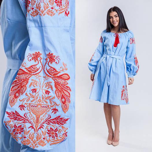 Платье вышиванка - Жар птица