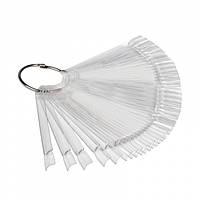 Палитра веер для образцов на кольце, прозрачная
