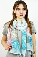 Весенней шарф бирюзового цвета