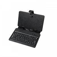 """Чехол для планшета 7"""" с клавиатурой micro USB, черный, QUER"""