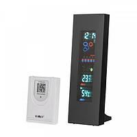 Беспроводная метеостанция с дистанционным датчиком температуры и влажности, цветной VFD экран KEMOT