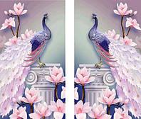 Алмазная мозаика Диптих Верная пара павлинов KLN 2 х 44 х 24 см (арт. PR728) частичная выкладка