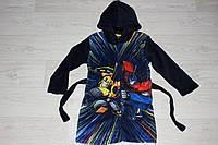 Детский халат с капюшоном для мальчиков Transformers, 3-8лет