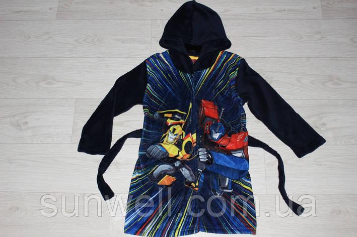 Дитячий халат з капюшоном для хлопчиків Transformers, 3, 4 роки, фото 2