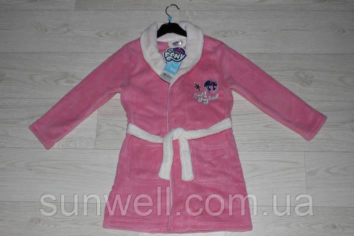 Детский халат для девочек My little pony, 3-8лет, фото 2