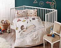 Комплект детского постельного белья 100X150 Tac DRIVER BEJ