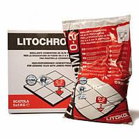Затирка на цементной основе Litochrom C30 серый перламутр, Литокол 5 кг