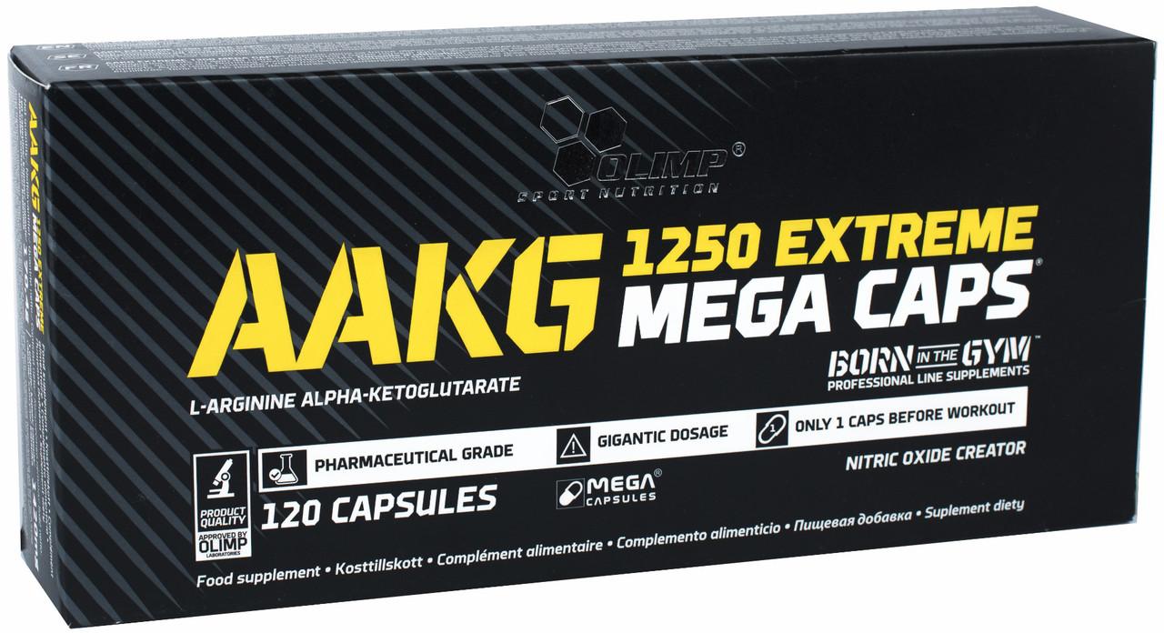 Аргинин Olimp AAKG 1250 Extreme Mega Caps (120 капс) олимп аакг мега капс