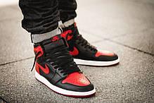 "Кроссовки Air Jordan 1 Retro ""Black/Red/White"", фото 2"