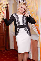 """Платье """"Луиза"""" черный+белый"""