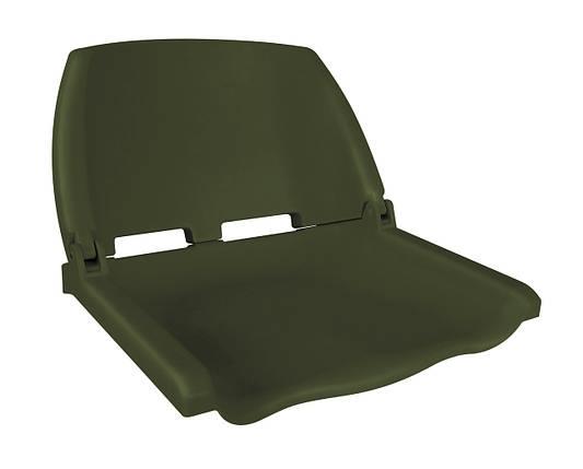 Сиденье для лодки складное пластиковое олива, фото 2