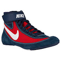 Мужская обувь БОРЦОВКИ NIKE SPEEDSWEEP VII(сині з червоним) 366683-416 42.5
