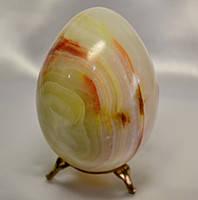 Яйцо из натурального камня оникса