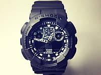 Спортивные чёрные наручные часы G Shock