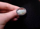 Кольцо  природный хризопраз в серебре.18 размер. Кольцо с яблочным хризопразом. Индия!, фото 4