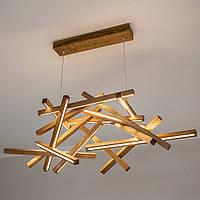 Люстра из дерева, ручная работа, освещение, светильник потолочный, светодиодный светильник - Interstellar XL