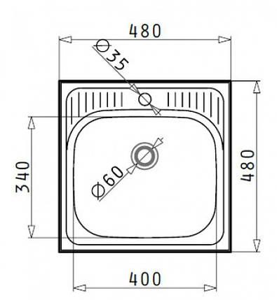 Кухонная мойка PYRAMIS ET 34 (48X48) Linen (92mm) , фото 2