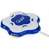 USB-хаб, 4 порта сине-белый Quer