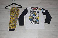 Детская пижама для мальчиков Minion, 3-8лет