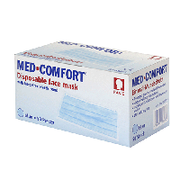 Маска медична нетк. трехслойна  Медкомфорт  на резинках фіолетова