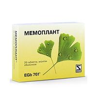 """Препарат для мозга""""Мемоплант""""-улучшает мозговое и периферическое кровообращение(20табл.,Германия)"""