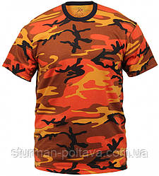 Футболка мужская камуфляж - Colored Camo T-Shirts материал  поликотон 60/40 ROTCHO  США.