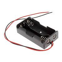 Кассетница на 2 элемента параллельно для аккумуляторов 18650 с проводами