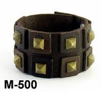 Браслет из натуральной кожи M500